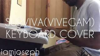 Cover images Vivegam - Surviva - Anirudh Feat Yogi B, Mali Manoj | Ajith Kumar | Siva full song keyboard cover