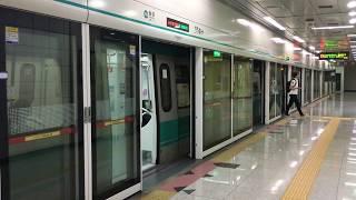 【韓国】 光州都市鉄道1号線 花亭駅 광주 도시철도 1호선 화정역 Gwangju Metro Line 1 Hwajeong Station, Korea (2019.8)