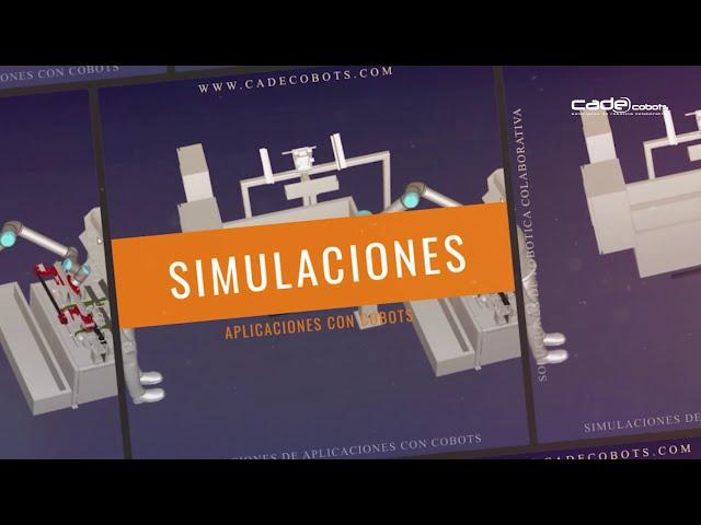 Simulaciones de aplicaciones automatizadas con robótica colaborativa