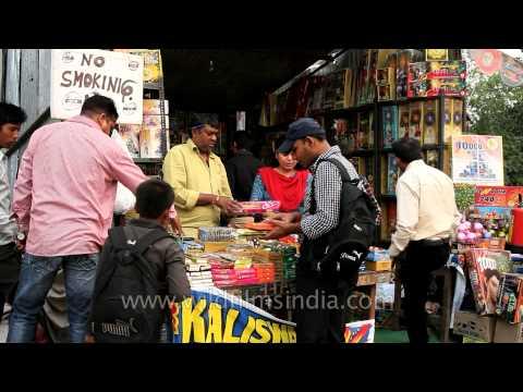 Firecrackers on sale - Diwali shopping in Delhi