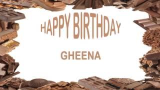 Gheena   Birthday Postcards & Postales