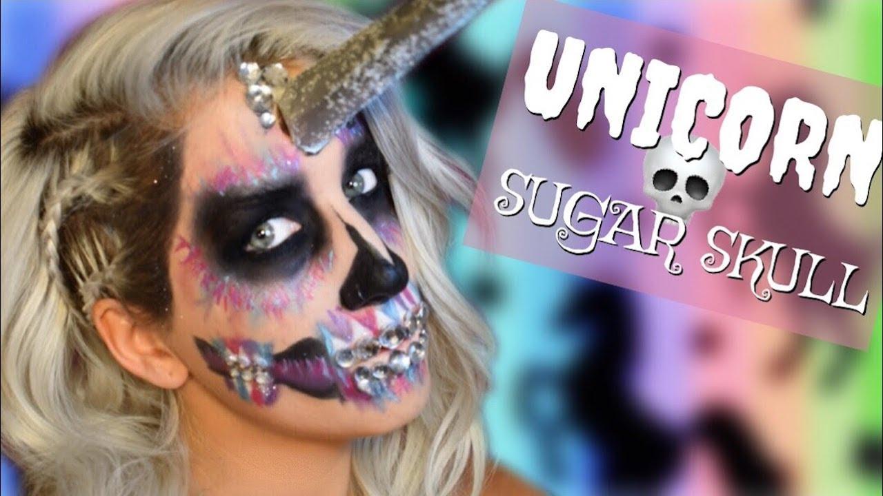 foto de UNICORN SUGAR SKULL HAIR & MAKEUP Tutorial DEAD UNICORN Makeup YouTube