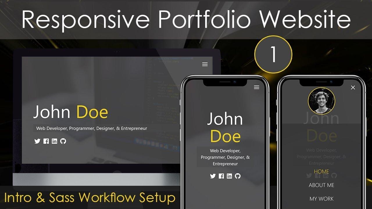 Responsive Portfolio Website [1] - Intro & Sass Workflow Setup