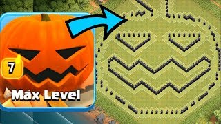 PUMPKIN TOWN HALL 8 BASE!! | Clash of clans | TROLL RAIDS!!