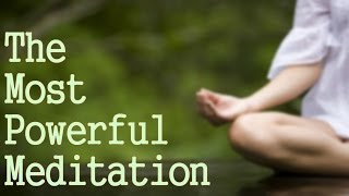 The Most Powerful Meditation You Can Do! ( Connect with God!) thumbnail