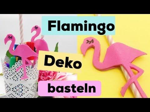 party deko selber machen diy strohhalme basteln mit flamingos youtube