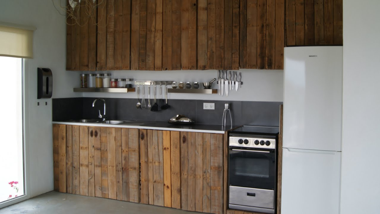 cocinas de pallets - YouTube