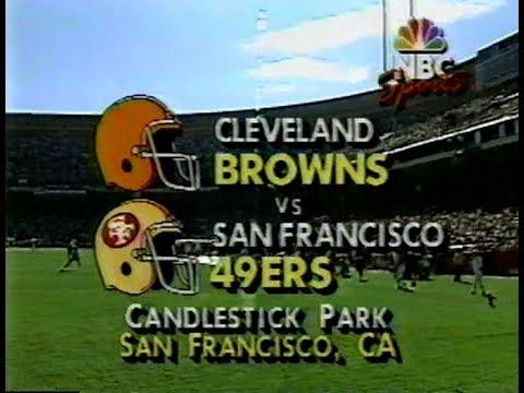 1990-10-28 Cleveland Browns Vs San Francisco 49ers(Kosar BENCHED!)