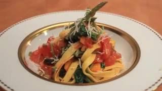 ZEPTER Рецепт: Лапша тальятелле со спаржей и шпинатом