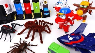 Go Go Super Wings 2, Giant Spiders in The Tayo Village