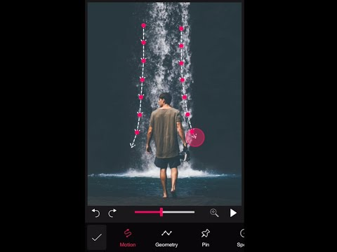 How to make still water move using Pixamotion App for iOS