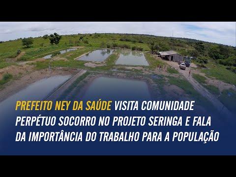 Prefeito Ney da Saúde visita Comunidade Perpétuo Socorro no Projeto Seringa