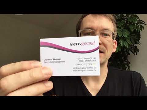 Visitenkartencheck 13 Für Gesundheitsmanagement