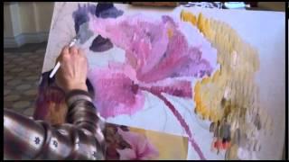Как научиться рисовать карандашом маслом, рисуем ЦВЕТОК .Аминджанов Александр(Рисую цветок за 2 часа штрихами., 2015-05-28T11:44:18.000Z)