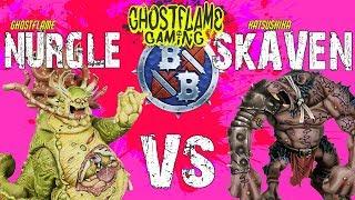 """TROLL-TASTIC"" NURGLE vs SKAVEN - Ghostflame BLOOD BOWL 2"