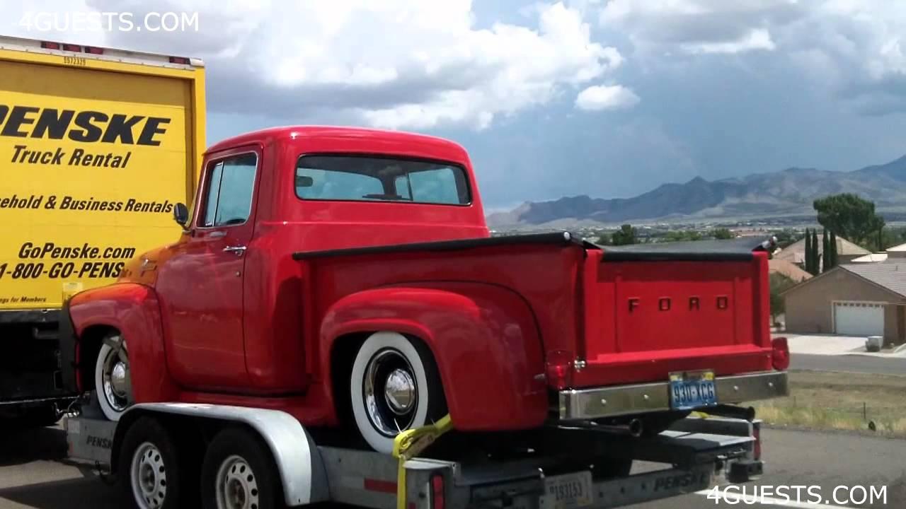 Old Vintage Ford Trucks On Trailers Penske Rentals Youtube