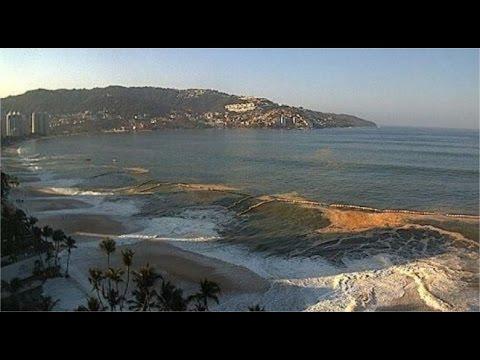 """Así afectó el fenómeno """"mar de fondo"""" a los turistas en Acapulco"""