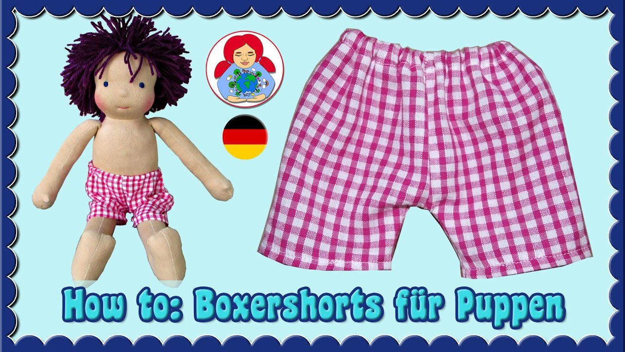 DIY   Boxershorts für (Waldorf) Puppen   Sami Dolls Schnittmuster ...