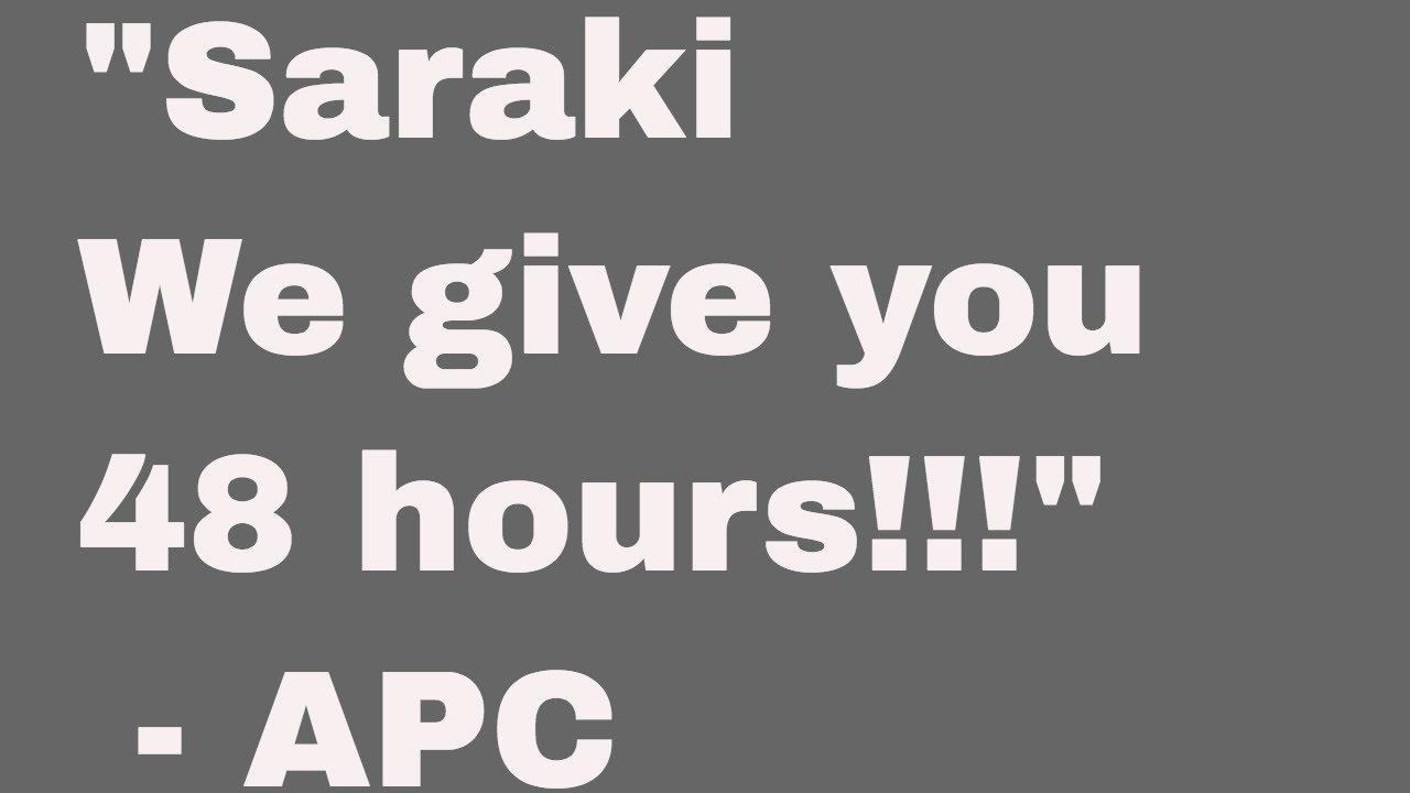 APC GIVES SARAKI 48 hours or face disciplinary action! NIGERIAN POLITICS NEWS TODAY HEADLINES