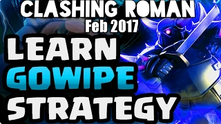 CLASH OF CLANS TH8 3 STAR GOWIPE STRATEGY 2017 | LOW LEVEL GOWIPE VS MAX TH8 BASE | CLASHING ROMAN