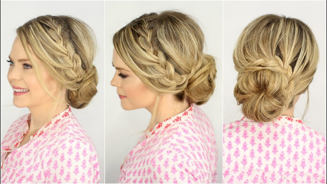 French Lace Braid Updo Prom Hairstyle Missy Sue