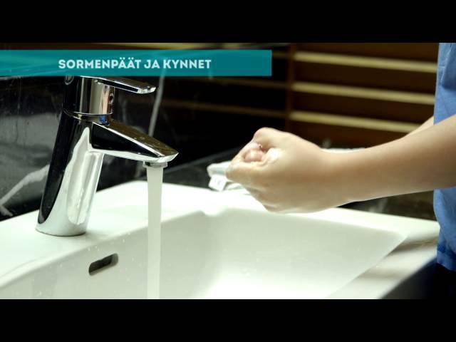 Thumbnail of video called Käsien pesu - näin opetat sen lapselle | Meidän Perhe