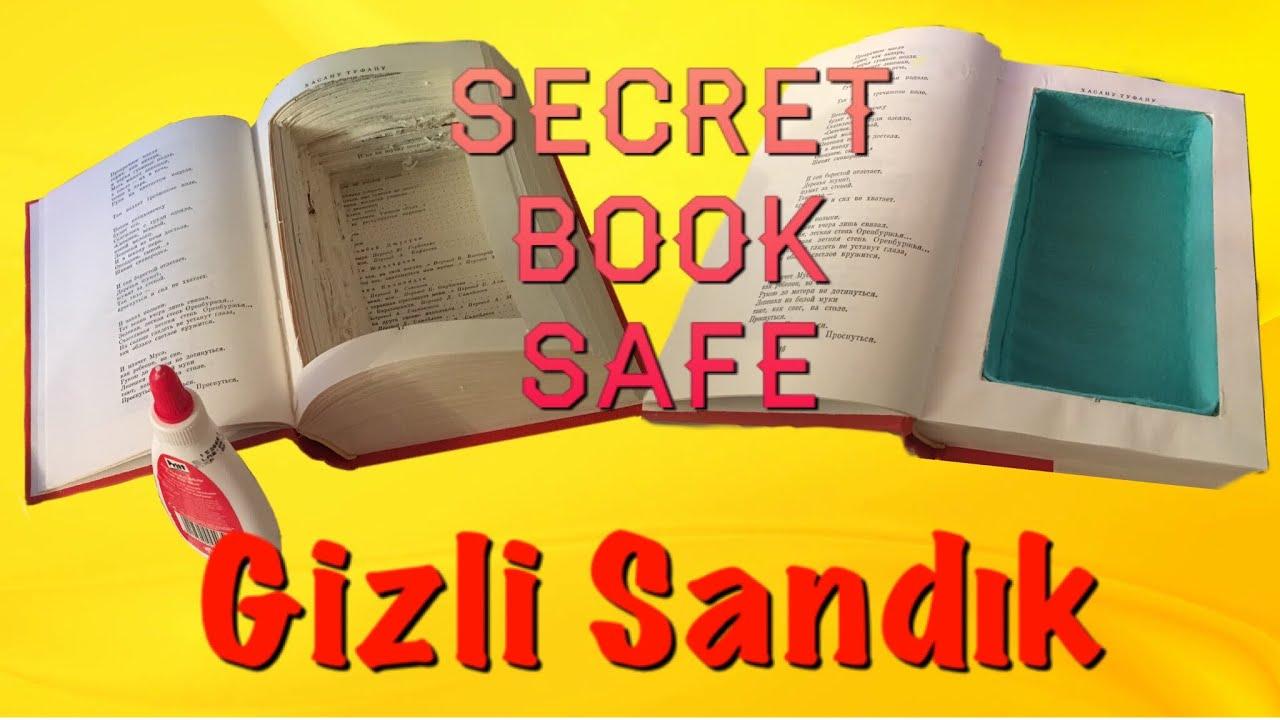 DIY - Secret Book Safe | Kendin Yap - Kitap İçine Gizli Bölme Yapımı