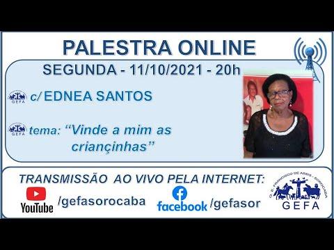 Assista: Palestra online - c/ EDNEA SANTOS (11/10/2021)