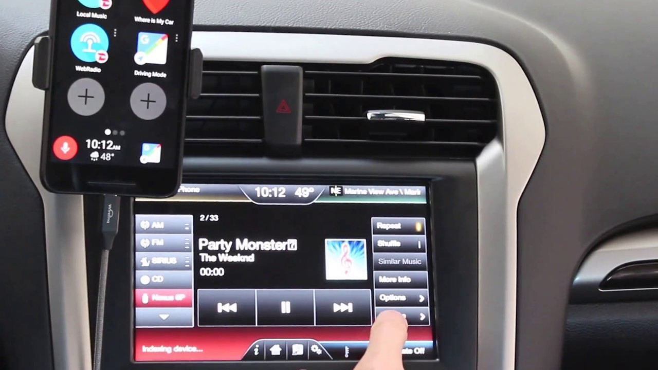 ford fusion usb music