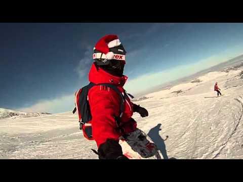 New exploration on Toguz-Bulak with GoPro (Snowboarding)