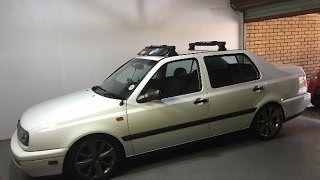 DIY - How To Install a Thule Fairing on a VW MK3 Votex Rack