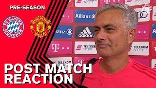 Rashford takes the No. 10 shirt! | Mourinho & Jones post match | Manchester United v Bayern Munich