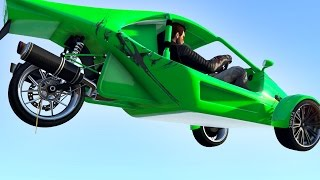 NEW BIKE-CAR VEHICLE! (GTA 5 Funny Moments)