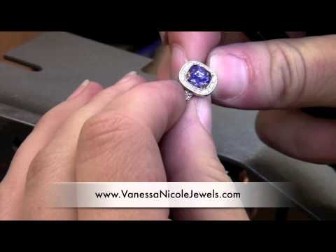 Blue Sapphire Into Antique Engagement Rings