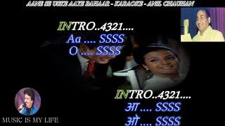 Aane Se Uske Aaye Bahaar Karaoke Scrolling Lyrics Eng. & हिंदी