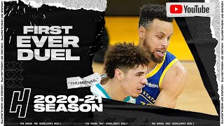Stephen Curry vs LaMelo Ball First Ever Duel Highlights - Hornets vs Warriors | February 26, 2021