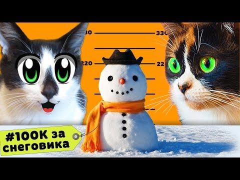 100К ЗА СНЕГОВИКА КОТ МАЛЫШ и КОШКА МУРКА и СНЕГОВИК за 100000 РУБЛЕЙ! КОНКУРС от #SLIVKISHOW и КУКИ