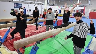 GYMNASTICS BLINDFOLDED! (DANGEROUS)