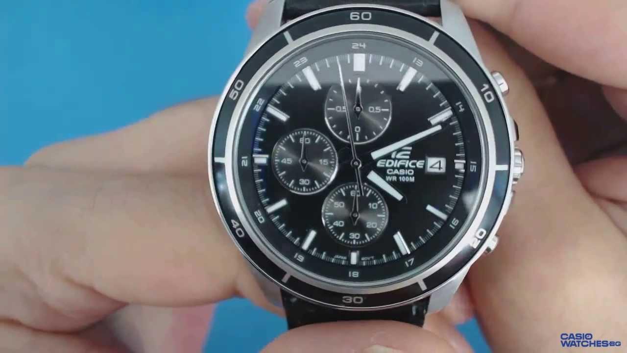 Casio Edifice Chronograph EFR-526L-1A - YouTube 867f5c6bbc
