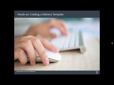 Adobe Campaign 6.1.1 Administration - Creating a Delivery Template