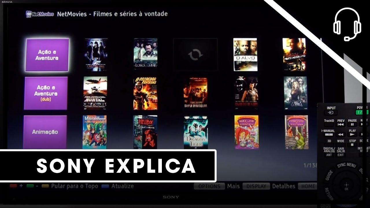 Sony | Suporte | TV | Como acessar e criar uma conta no NetMovies