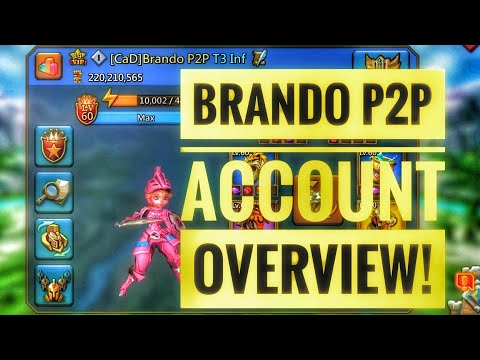 Lords Mobile - Brando P2P Account Overview!!