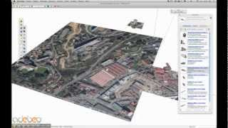 Tutoriel Sketchup - B1 - import des bâtiments Google Earth