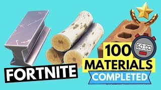HOW TO GET 100 OF EACH MATERIAL IN 26 SECONDS!!!! FORTNITE SMASH AND GRAB CHALLENGES