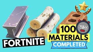 COMMENT OBTENIR 100 DE CHAQUE MATÉRIEL EN 26 SECONDES!!!! FORTNITE SMASH AND GRAB DÉFIS