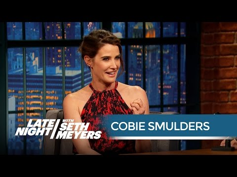 Cobie Smulders' Husband Taran Killam Is an Avengers Super  Late Night with Seth Meyers
