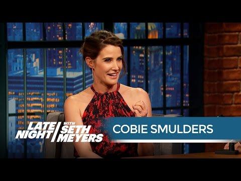 Cobie Smulders † Husband Taran Killam Is an Avengers Superfan - Late Night with Seth Meyers