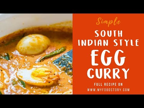South Indian Style Egg Curry Recipe Kerala Style