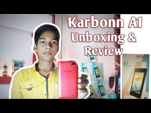 Karbonn A1 smart phone unboxing & review