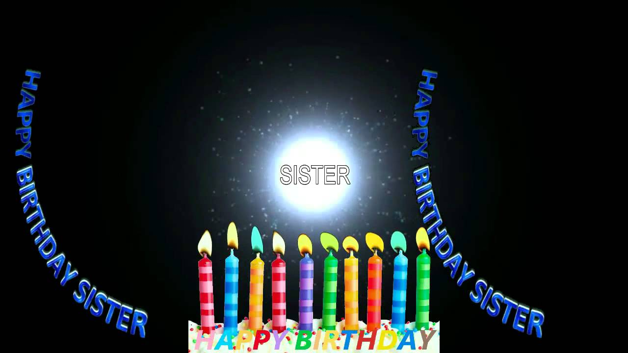 Sister Birthday Wishes Whatsapp Facebook Greeting Video